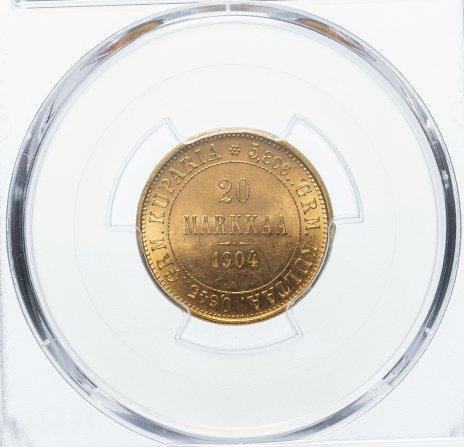 купить Российская Империя для Финляндии 20 марок 1904 года L  PCGS MS64