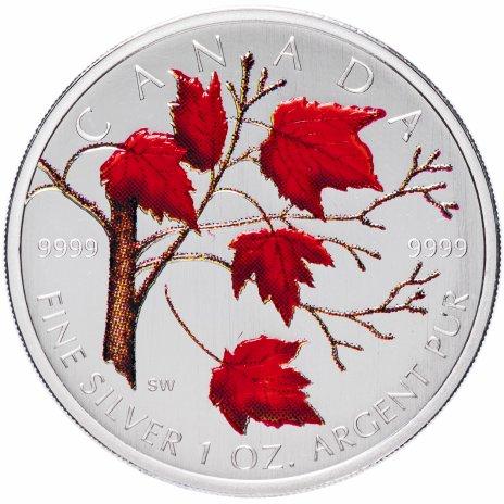 """купить Канада 5 долларов 2004 """"Кленовые листья"""" эмаль"""