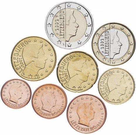 купить Люксембург набор монет евро 2002 (8 штук)