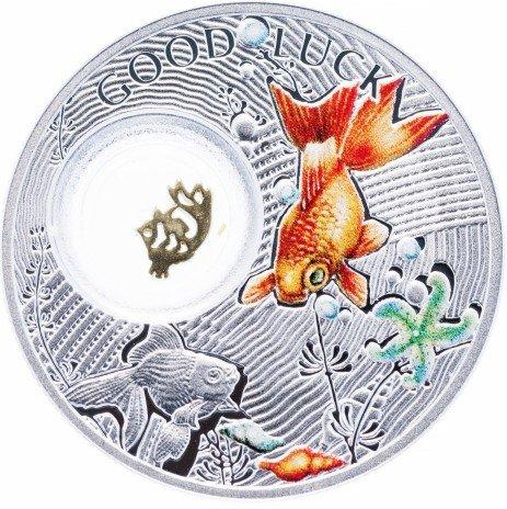 """купить Ниуэ 1 доллар 2014 """"Монеты на счастье - Золотая рыбка"""""""