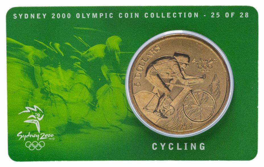 купить Австралия 5 долларов (dollars) 2000 Олимпийские игры в Сиднее - Велоспорт