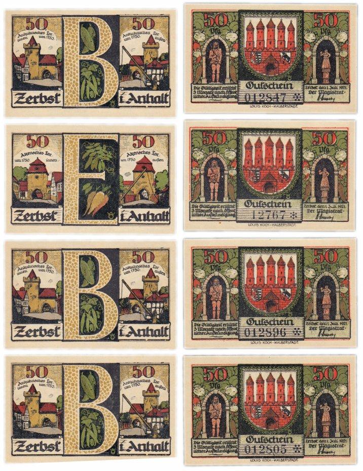 купить Германия (Анхальт: Цербст) набор из 4-х нотгельдов 1921