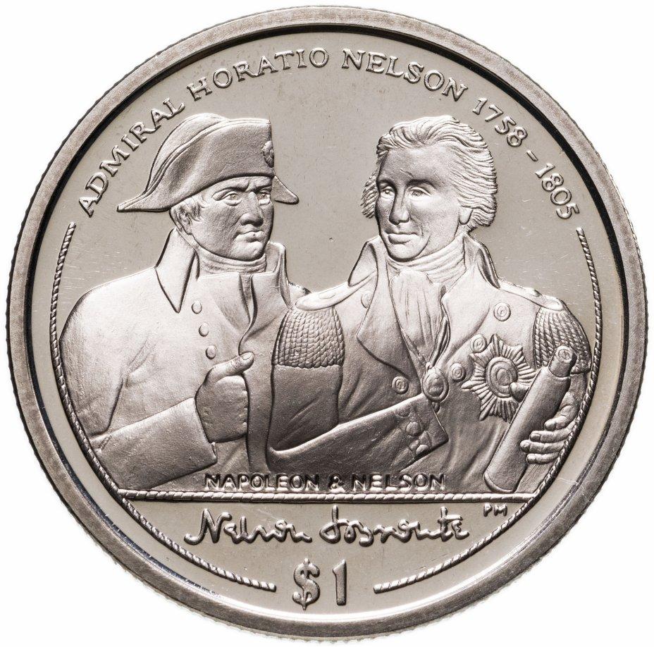 """купить Британские Виргинские острова 1 доллар (dollar) 2005 """"Наполеон и Нельсон"""""""