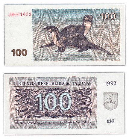 купить Литва 100 талон 1992 (Pick 42)