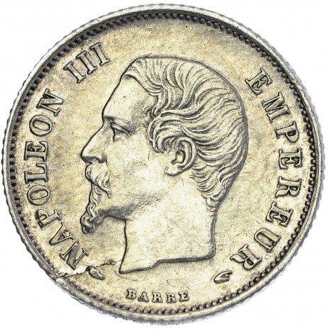 купить Франция 20 сантимов 1854