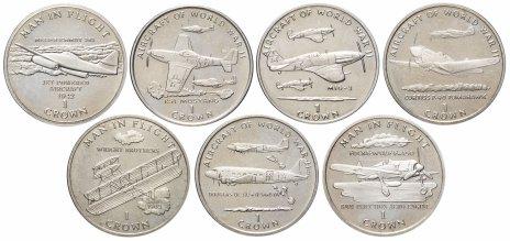 купить Остров Мэн набор из 7 монет 1 крона 1995