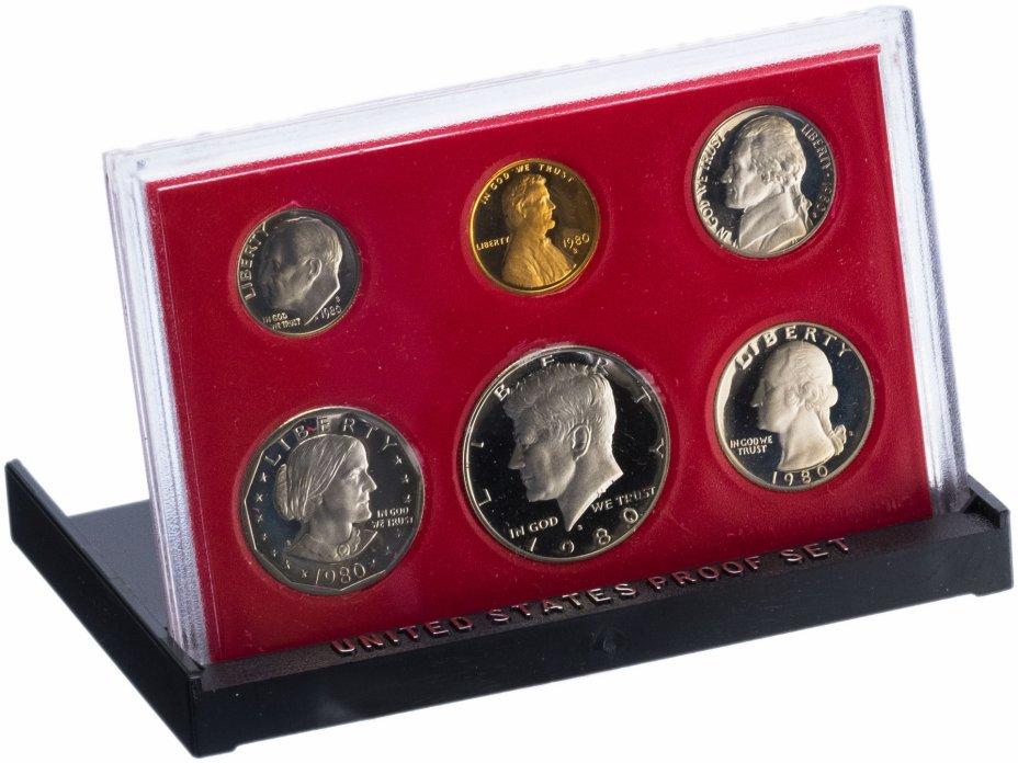 купить США Годовой набор монет 1980 Proof (6 штук) в упаковке