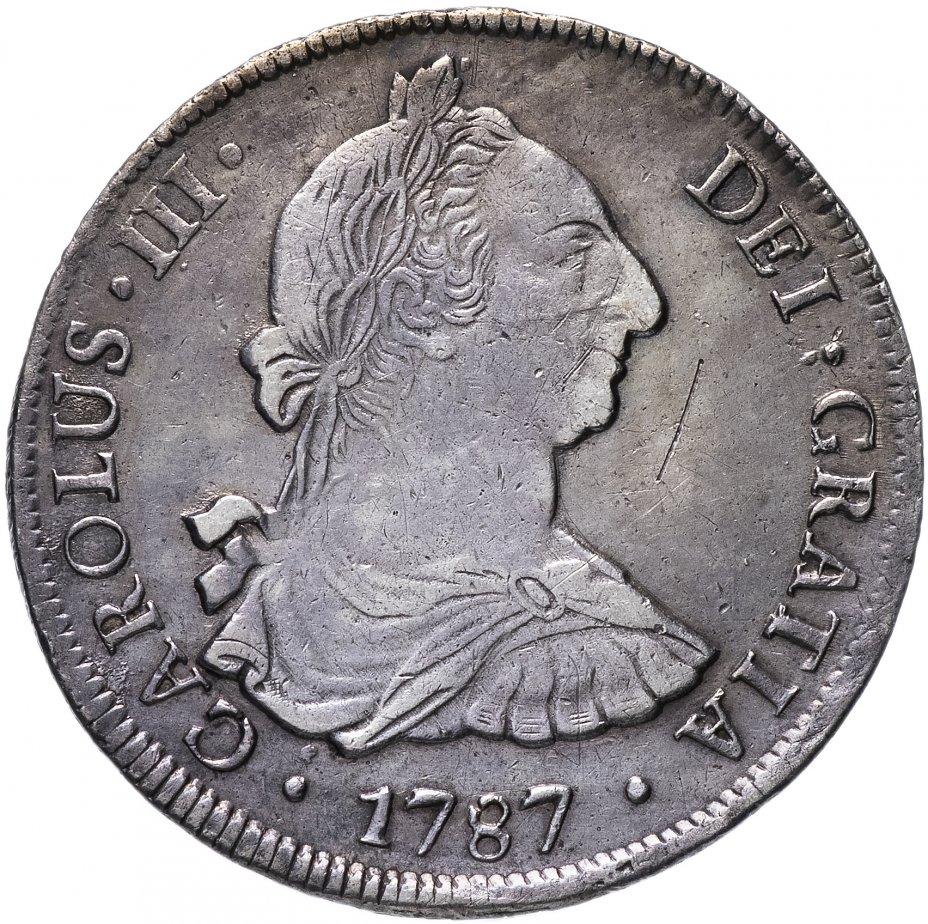 купить Мексика (колониальная) 8 реалов 1787 Карл III
