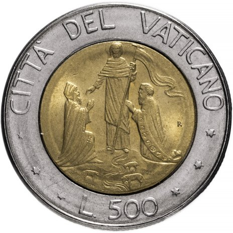 купить Ватикан 500 лир 1990