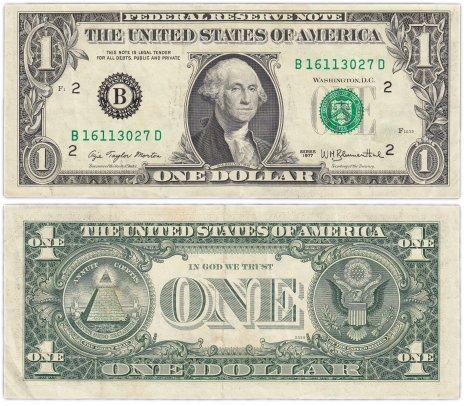 купить США 1 доллар 1977 (Pick 462a) B-Нью Йорк