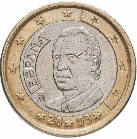 Испания 1 евро 2003 стоимость монет 1997 2014