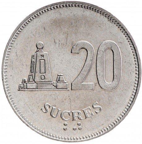 купить 20 сукре 1991 Эквадор