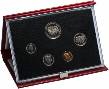 купить Доминиканская республика набор из 5-ти монет 1987 в подарочном буклете Proof