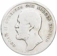 купить Швеция 1 крона (krona) 1875-1907, случайный год
