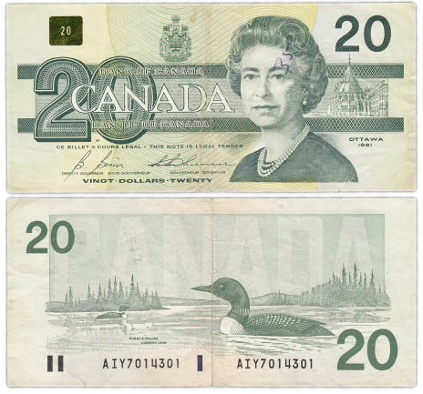 купить Канада 20 долларов 1991 (Pick 97b)