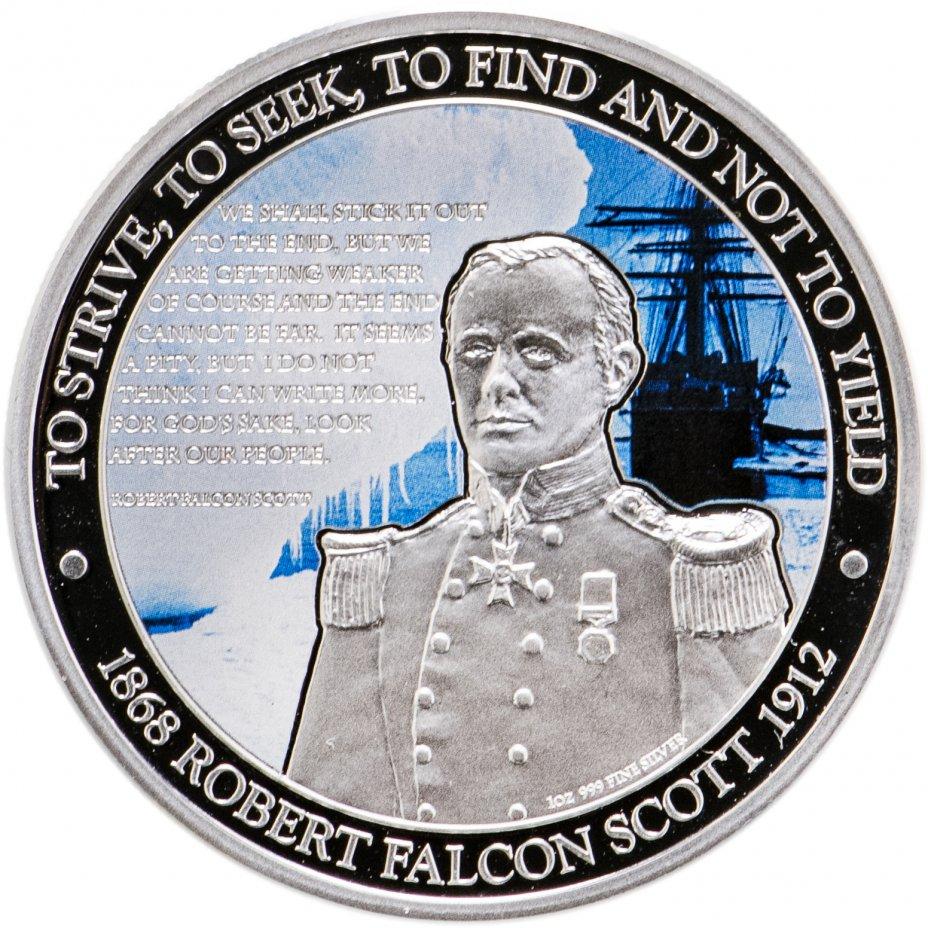 купить Ниуэ 1 доллар 2012 «Роберт Фалкон Скотт» в футляре с сертификатом