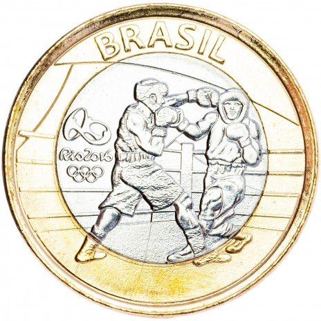 """купить Бразилия 1 реал 2016 """"XXXI летние Олимпийские Игры, Рио 2016 - Бокс"""""""