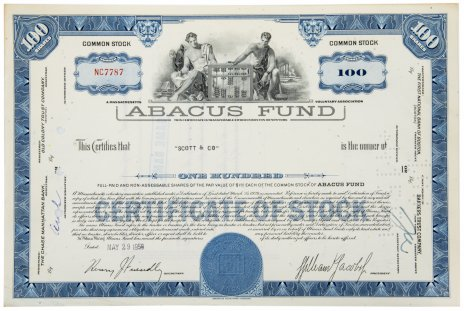 купить Акция США ABACUS FUND, INC. , 1958 г.