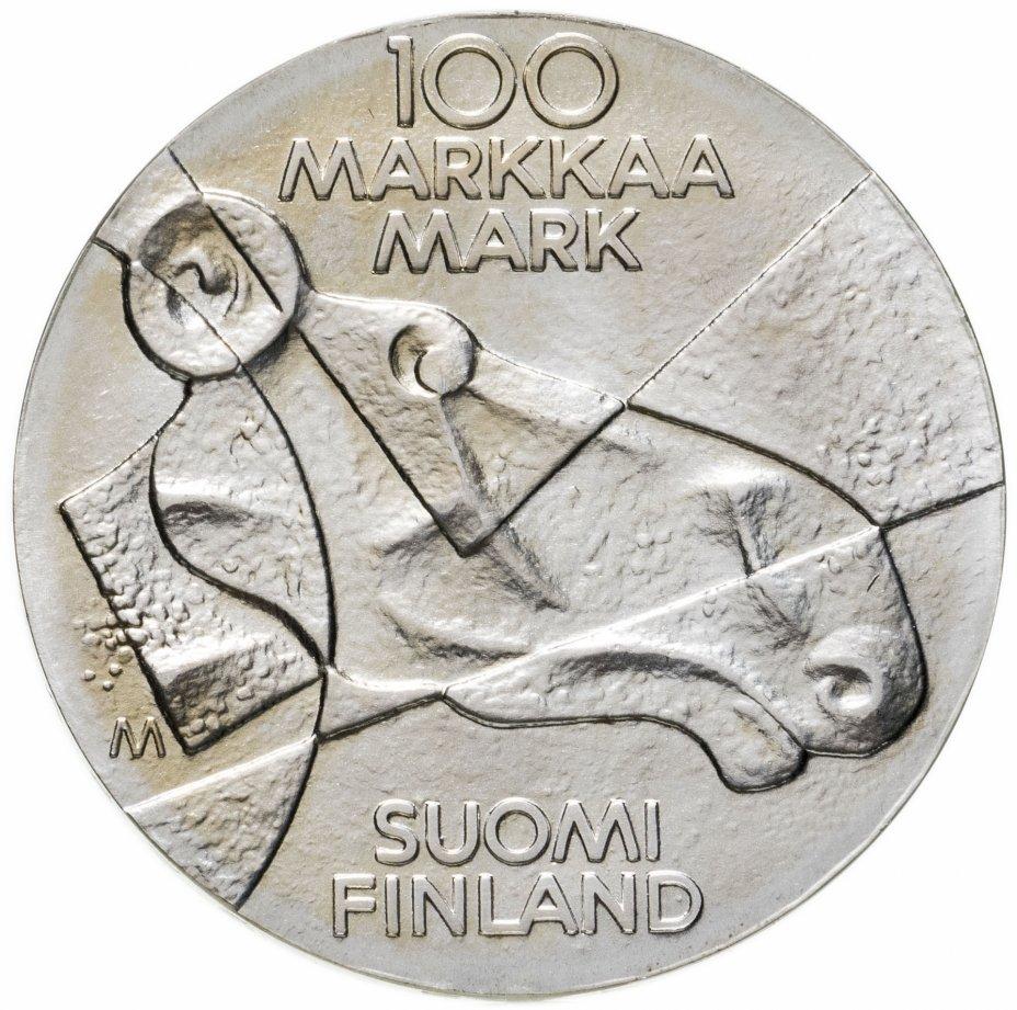 """купить Финляндия 100 марок 1989 """"Изобразительное искусство Финляндии"""""""