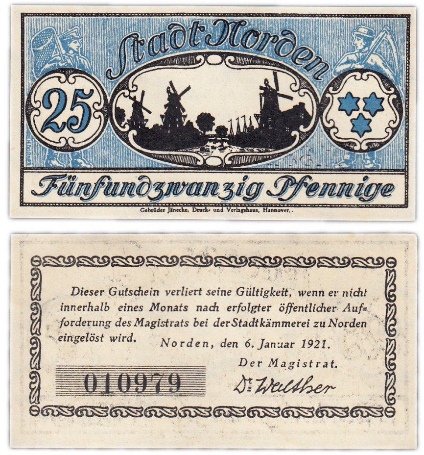 купить Германия (Ганновер: Норден) 25 пфеннигов 1921 (B2)