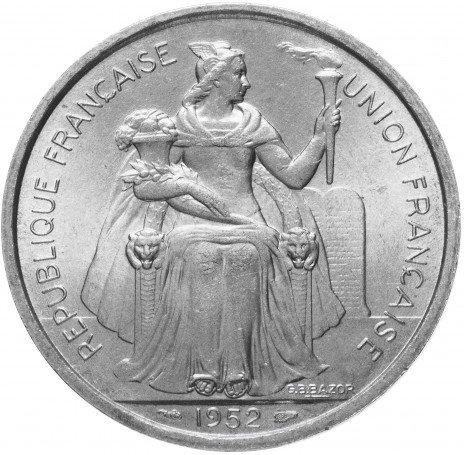 купить Французская Океания 5 франков 1952