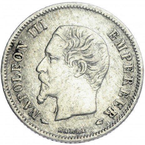 купить Франция 20 сантимов 1853