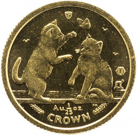 """купить Остров Мэн 1 крона (crown) 2004 """"Кошки - Тонкинская кошка"""""""