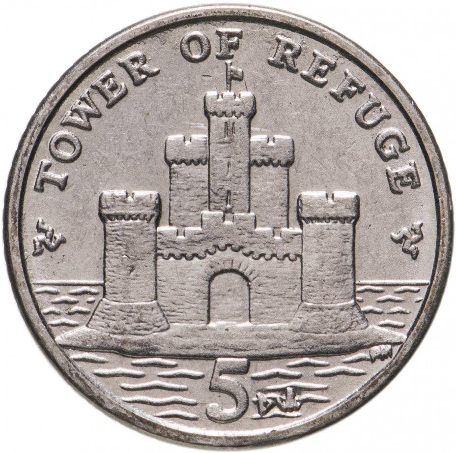 купить Остров Мэн 5 пенсов (pence) 2014-2016, случайная дата