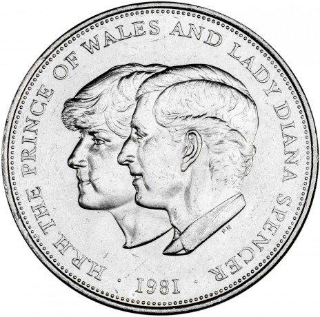 купить Великобритания 25 пенсов 1981 Свадьба принца Уэльского и леди Дианы Спенсер