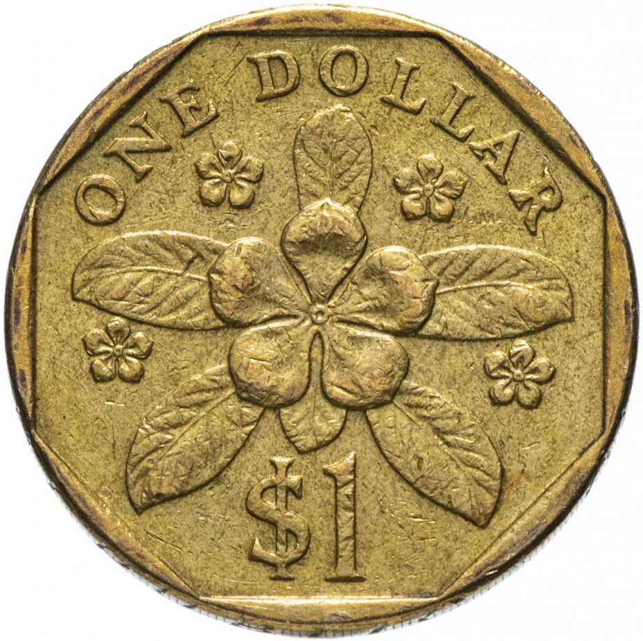 купить Сингапур 1 доллар (dollar) 1987-1990, случайная дата