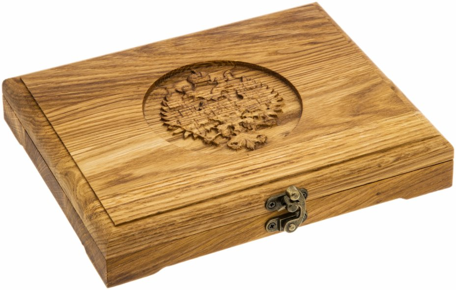 купить Футляр деревянный для 18 монет (слэб дуба, массив, пропитка)