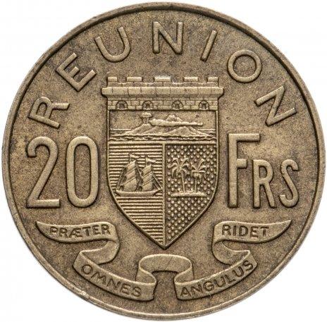 купить Реюньон (заморский регион Франции) 20 франков 1955