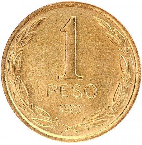 купить 1 песо 1990 Чили