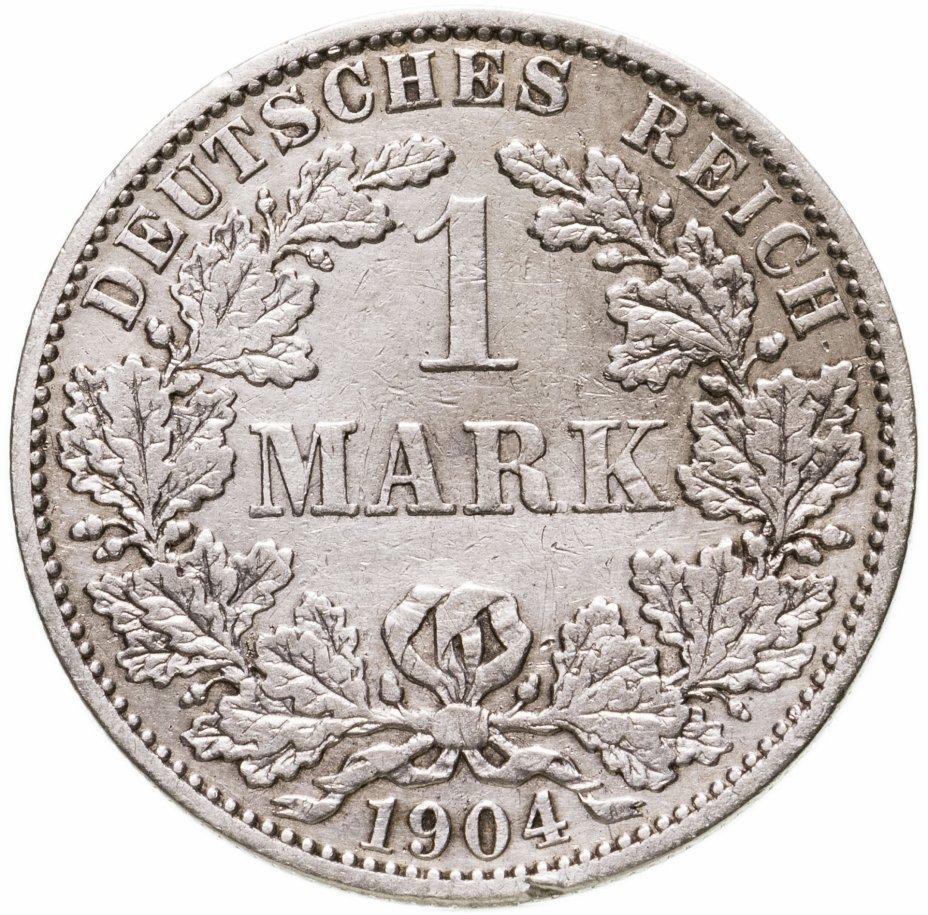 """купить Германия (Германская империя) 1 марка 1904 """"А"""""""