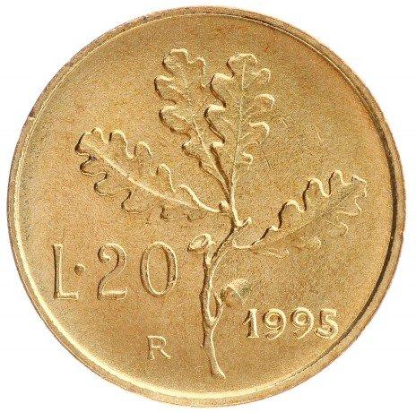 купить 20 лир 1995 Италия