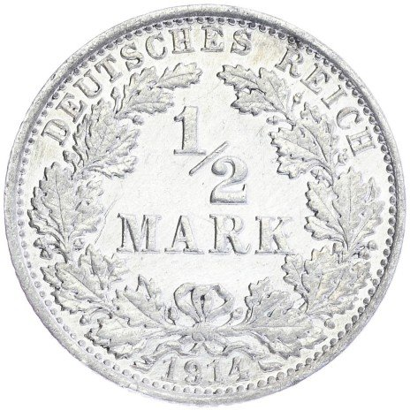 купить Германия 1/2 марки 1914г