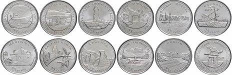 """купить Канада набор монет 25 центов 1992 серия """"Провинции"""" (12 монет)"""