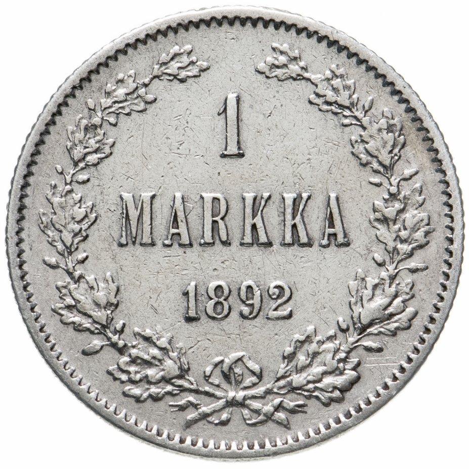 купить 1 марка (markka) 1892 L, монета для Финляндии