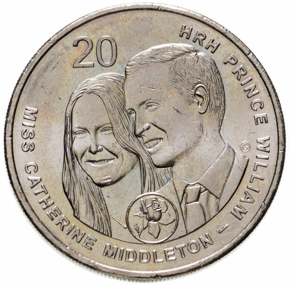 купить Австралия 20 центов (cents) 2011 Свадьба Принца Уильяма и Кэтрин Миддлтон