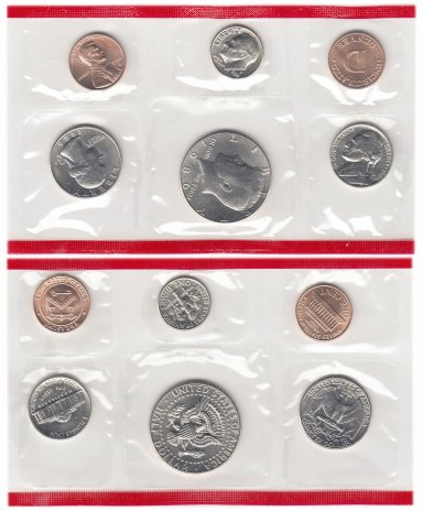 купить США годовой набор 1986 D (5 монет + жетон)