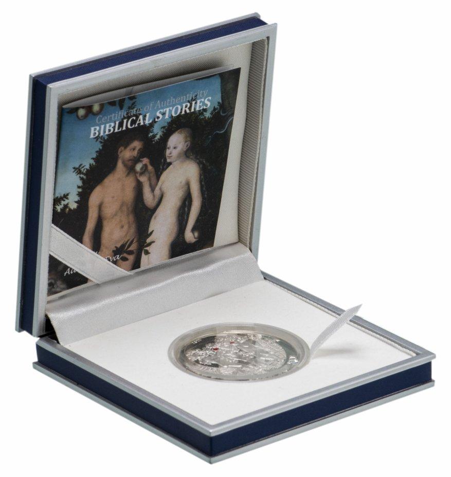 """купить Палау 2 доллара 2011 """"Библейские истории - Адам и Ева"""", в футляре с сертификатом"""