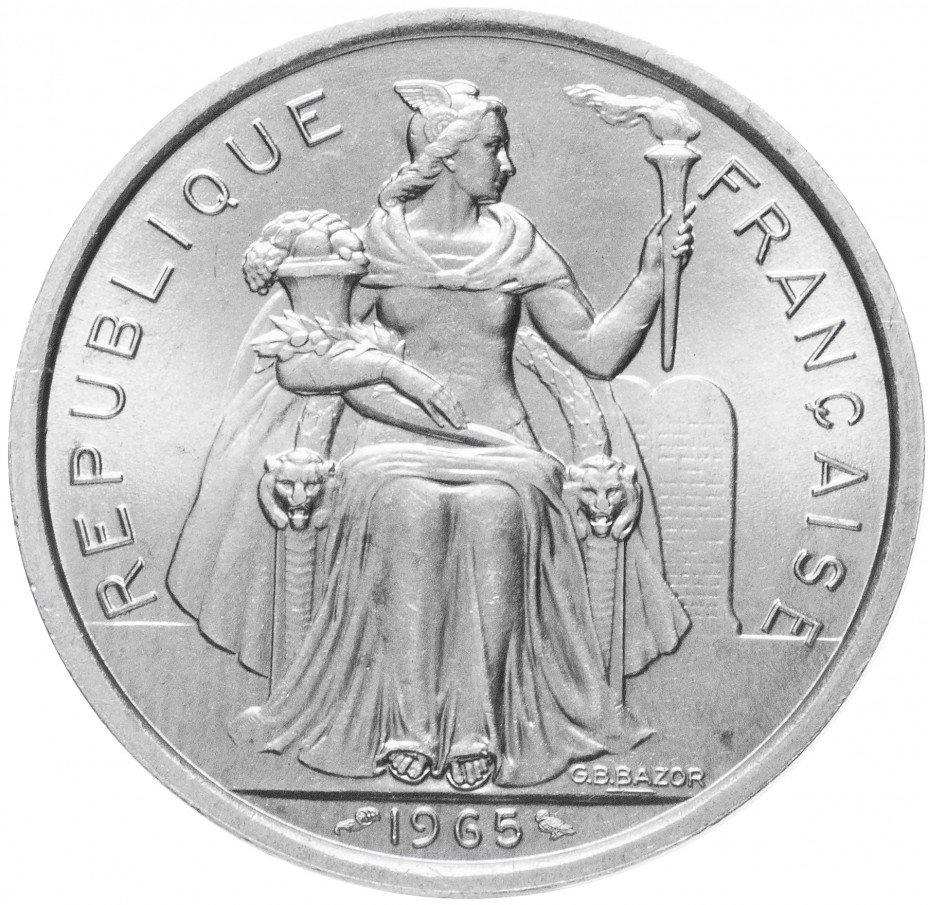 купить Французская Полинезия 5 франков 1965