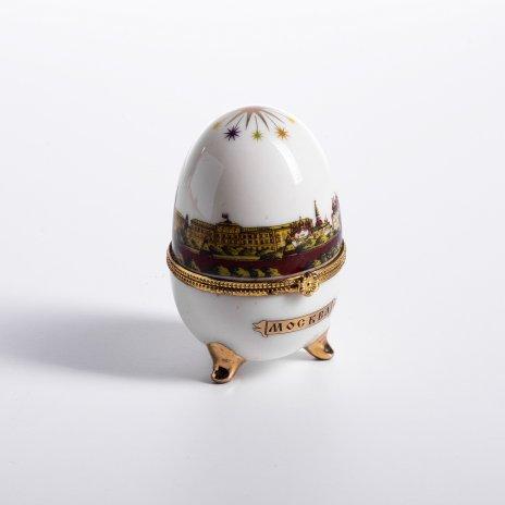 купить Шкатулка  в виде пасхального яйца с видами Москвы, фарфор, деколь, Россия, 2000-2015 гг.