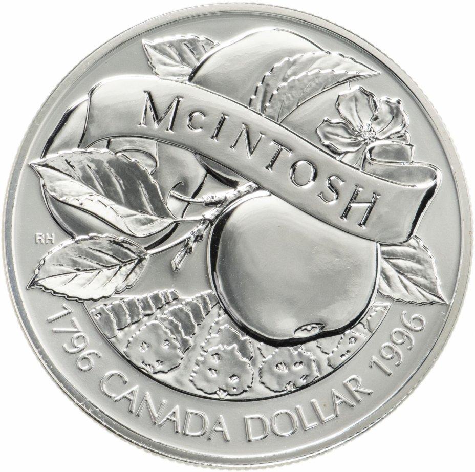 "купить Канада 1 доллар (dollar) 1996 ""Яблоки Мекинтош"""