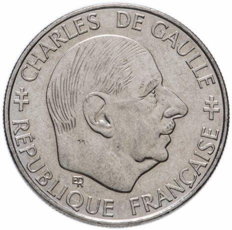 купить Франция 1 франк 1988 Шарль де Голль