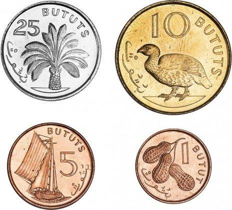 купить Набор монет Гамбия 1998 (4 штуки)