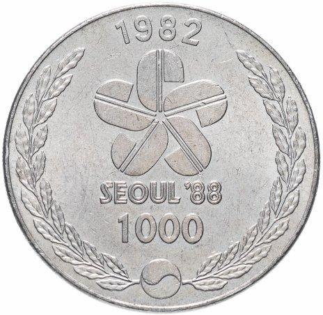 """купить Южная Корея 1000 вон 1982 """"XXIV летние Олимпийские Игры, Сеул 1988 - Танцоры"""""""
