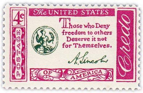 """купить США 4 цента 1960-61 """"Американское кредо"""""""