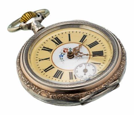 """купить Часы карманные, сталь с серебрением, фирма """"Auland"""", Швейцария, 1900-1930 гг."""
