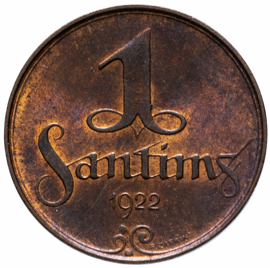 купить Латвия 1 сантим (santims) 1922